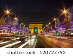 evening traffic on champs... | Shutterstock . vector #120727792