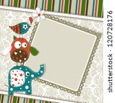 template greeting card  vector... | Shutterstock .eps vector #120728176