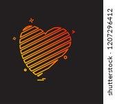 hearts icon design vector | Shutterstock .eps vector #1207296412