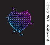 hearts icon design vector | Shutterstock .eps vector #1207307188
