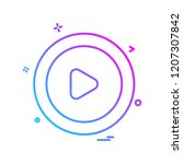 user interface icon design... | Shutterstock .eps vector #1207307842