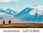 new zealand scenic mountain... | Shutterstock . vector #1207313062