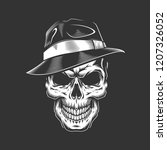vintage monochrome gangster... | Shutterstock .eps vector #1207326052