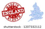 map of england vector mosaic... | Shutterstock .eps vector #1207332112