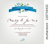 wedding card or invitation with ... | Shutterstock .eps vector #120733432