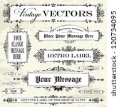 vector vintage label set. easy... | Shutterstock . vector #120734095
