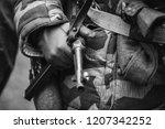german military ammunition of a ... | Shutterstock . vector #1207342252