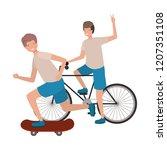men practicing sports avatar... | Shutterstock .eps vector #1207351108
