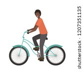 young man with bicycle avatar... | Shutterstock .eps vector #1207351135