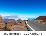 road on the top of haleakala... | Shutterstock . vector #1207358248