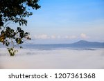 morning mist sunrise at khao... | Shutterstock . vector #1207361368