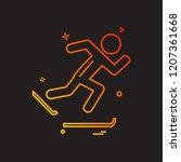 sports icon design vector | Shutterstock .eps vector #1207361668