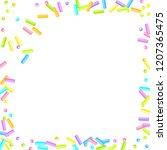 sprinkles grainy. sweet...   Shutterstock .eps vector #1207365475