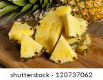 Fresh Yellow Organic Pineapple...