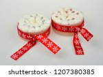 christmas candles and lights | Shutterstock . vector #1207380385