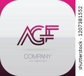 logo letter combinations a  g... | Shutterstock .eps vector #1207381552