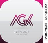 logo letter combinations a  g... | Shutterstock .eps vector #1207381555