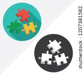 puzzle flat vector icon.... | Shutterstock .eps vector #1207381582