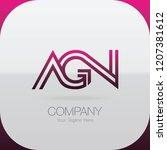 logo letter combinations a  g... | Shutterstock .eps vector #1207381612
