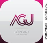 logo letter combinations a  g... | Shutterstock .eps vector #1207381642