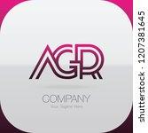logo letter combinations a  g... | Shutterstock .eps vector #1207381645