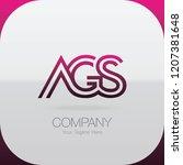 logo letter combinations a  g... | Shutterstock .eps vector #1207381648