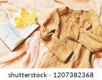 flat lay autumn photography.... | Shutterstock . vector #1207382368
