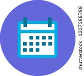 monthly calendar blue icon in...