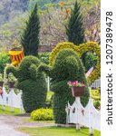 flowers and flower pot...   Shutterstock . vector #1207389478