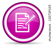 notes violet glossy icon on... | Shutterstock . vector #120739105