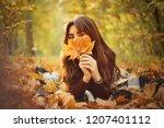 Fun Red Hair Girl In Autumn...