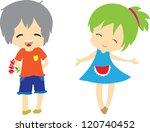 hand drawing.cartoon vector on... | Shutterstock .eps vector #120740452
