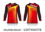 t shirt sport design template ... | Shutterstock .eps vector #1207406578