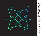 arrow icon design vector | Shutterstock .eps vector #1207412968