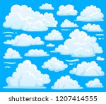white blue day cumulus cloud... | Shutterstock . vector #1207414555