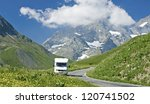 french alps  landscape with... | Shutterstock . vector #120741502