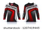 t shirt sport design template ... | Shutterstock .eps vector #1207419445