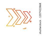 arrows icon design vector | Shutterstock .eps vector #1207422868