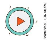 right arrow icon design vector | Shutterstock .eps vector #1207438528