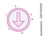 down arrow icon design vector | Shutterstock .eps vector #1207452055
