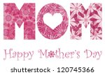 happy mothers day with mom... | Shutterstock .eps vector #120745366