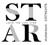 Star For T Shirt Slogan