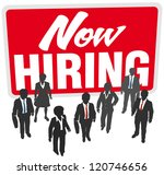 now hiring sign recruit people... | Shutterstock .eps vector #120746656