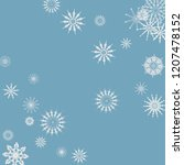 snowflakes falling on a blue... | Shutterstock .eps vector #1207478152