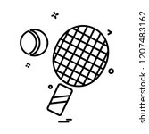 sports icon design vector  | Shutterstock .eps vector #1207483162