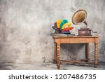 vintage antique brass... | Shutterstock . vector #1207486735