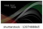 uae flag in lines style ... | Shutterstock .eps vector #1207488865