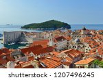 dubrovnik old town view from...   Shutterstock . vector #1207496245