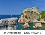 view to fort lovrijenac from...   Shutterstock . vector #1207496248