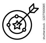 dartboard with arrow represents ... | Shutterstock .eps vector #1207500085